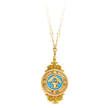An Antique Gold and Enamel Pendant Necklace, 19th Century
