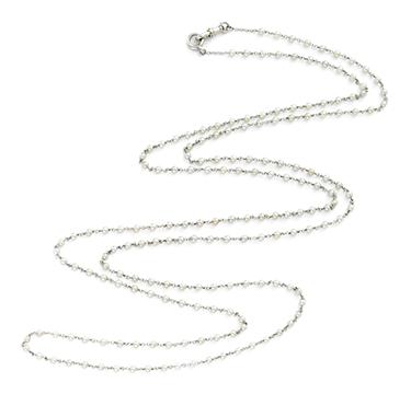 An Edwardian Seed Pearl and Platinum Long Chain, circa 1900