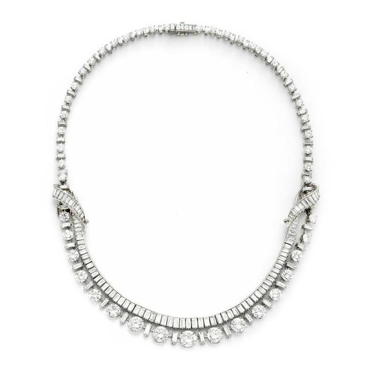 A Diamond and Platinum Necklace, by Boucheron, circa 1950