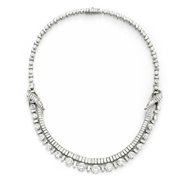 A Diamond and Platinum Necklace, by Boucheron, circa 1950
