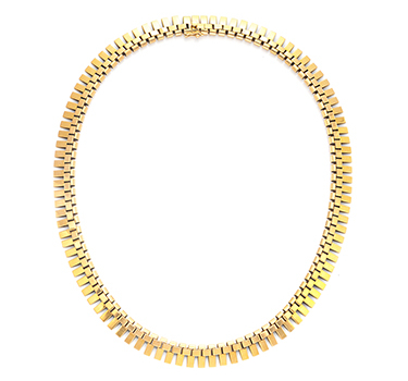 A Retro Gold Necklace, Circa 1940