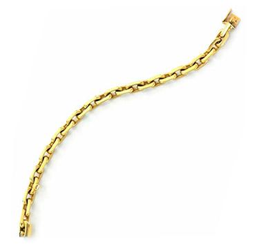 An 18k Gold Link Bracelet, by Boucheron, circa 1950