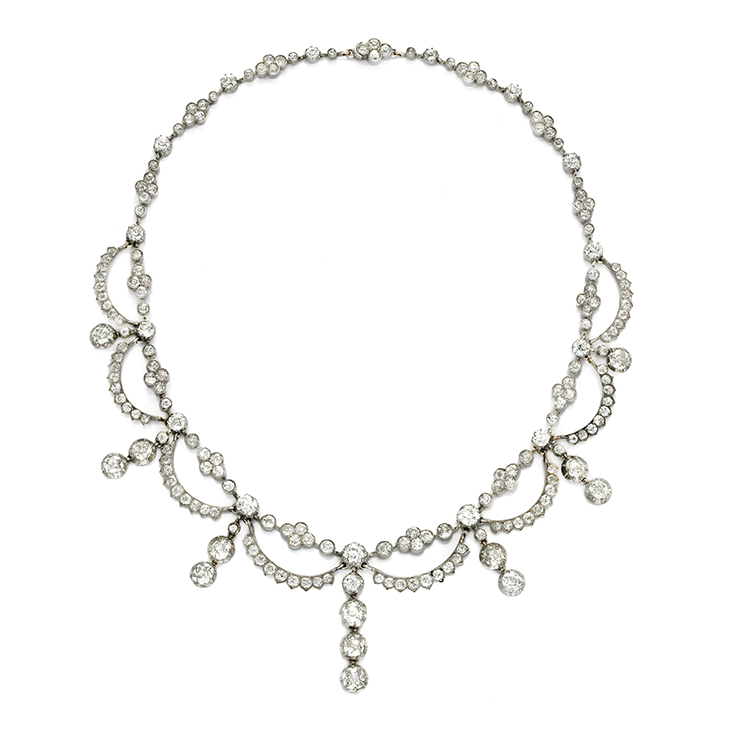 An Antique Diamond Necklace, circa 1870