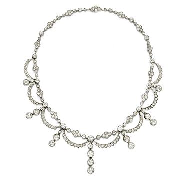 An Antique Diamond Necklace, circa 1870