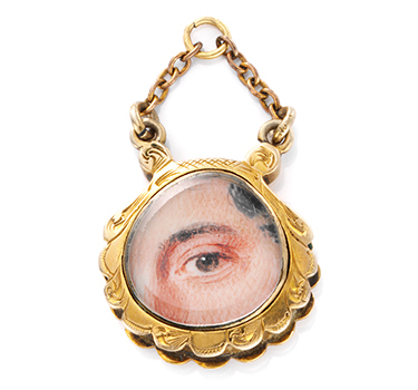 A Gold And Enamel 'Lover's Eye' Pendant, Circa 1830