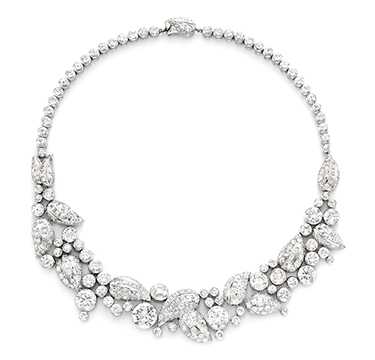 A Diamond and Platinum Necklace, by Suzanne Belperron