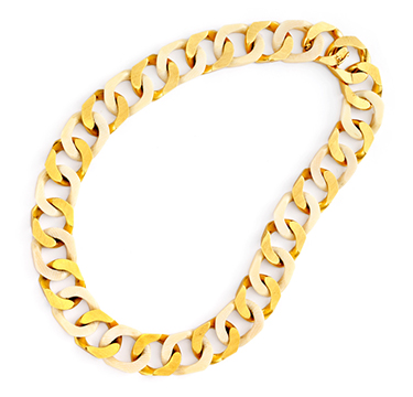 An Ivory and Gold Link Necklace
