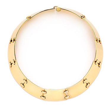 A Gold Collar Necklace, by Hermes