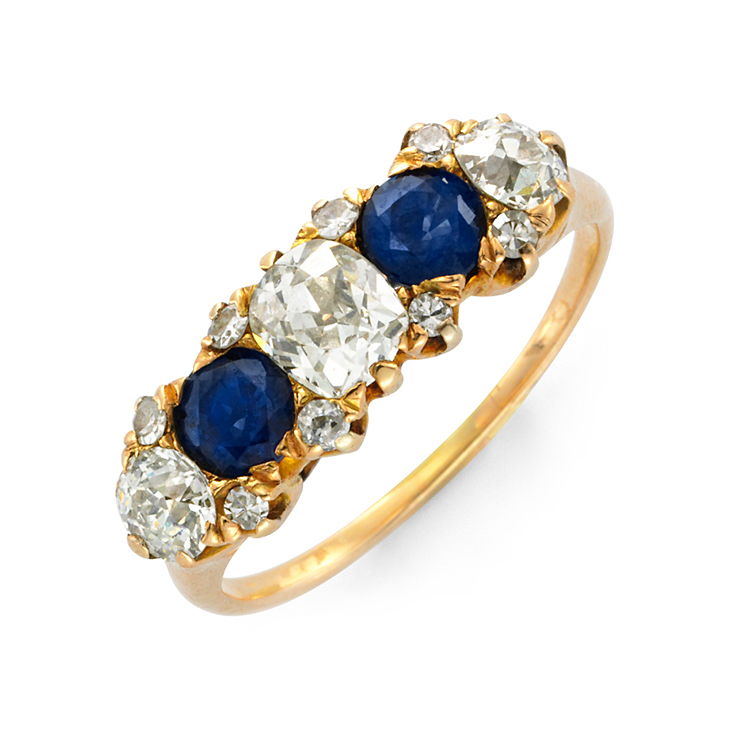 An Edwardian Sapphire and Diamond Band Ring, circa 1905