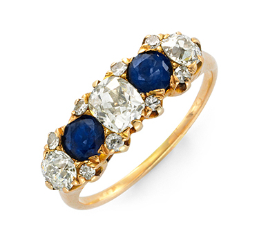 An Edwardian Sapphire And Diamond Band Ring, Circa 1905