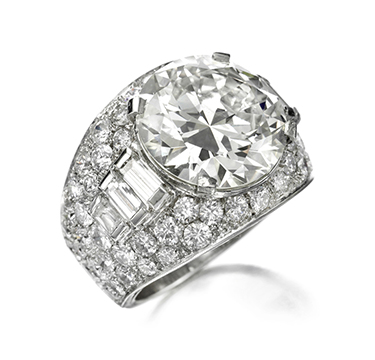 A Diamond 'Trombino' Ring, of 10.10 carats, by Bulgari, circa 1935