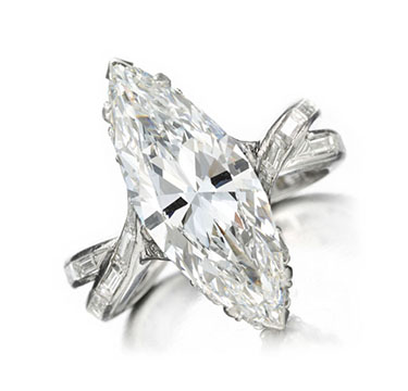 A Marquise-cut Diamond Ring, of 4.72 carats, by Sterle, circa 1950
