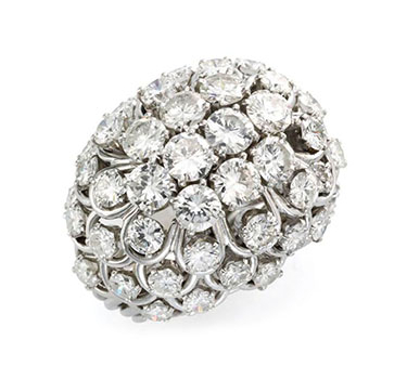 A Diamond And Platinum Ring, By David Webb, Circa 1960