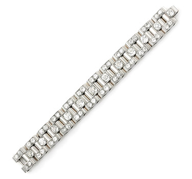 An Art Deco Platinum And Gold Bracelet, By Boucheron, Circa 1935
