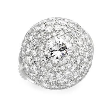 A Diamond Dome Ring, circa 1935