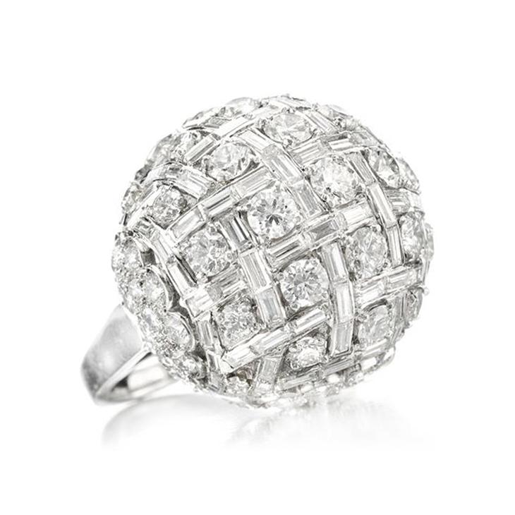 A Diamond Dome Ring, by Harry Winston, circa 1950