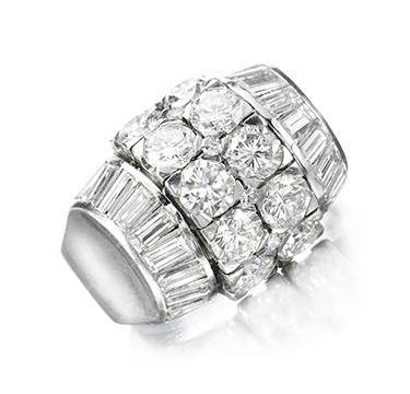 An Art Deco Diamond Ring, by Rene Boivin, circa 1933