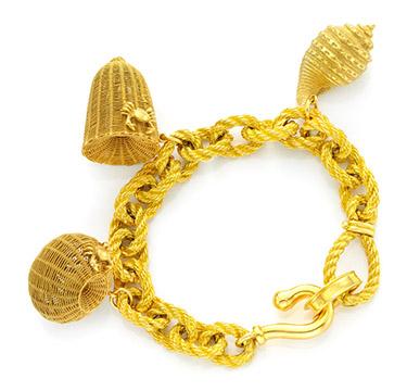 A Gold Charm Bracelet, circa 1960