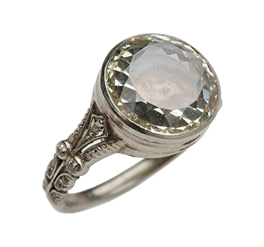 An Antique Diamond Portrait Ring