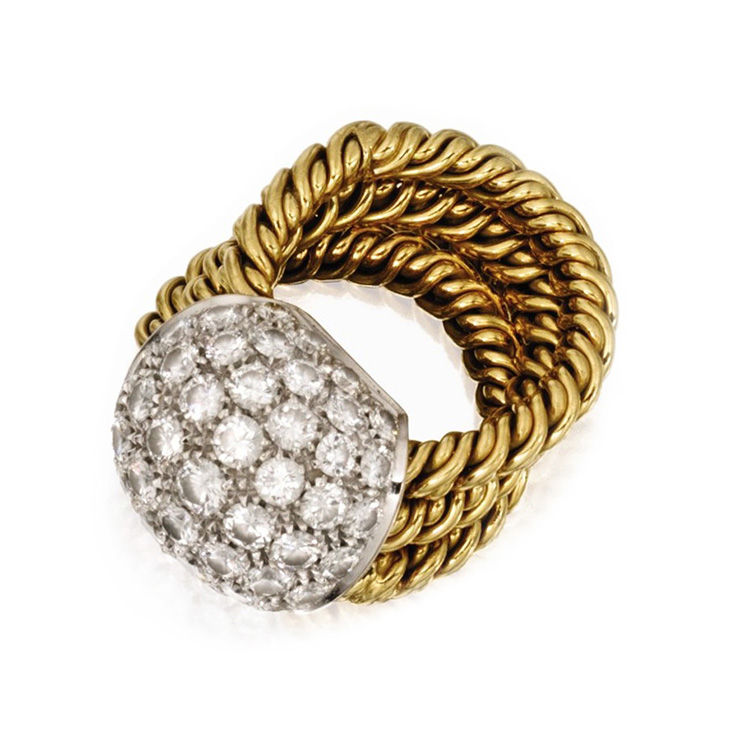 A Diamond and Gold Ring, possibly by Paul Flato