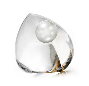 A Cultured Pearl and Smokey Quartz Ring, by Suzanne Belperron