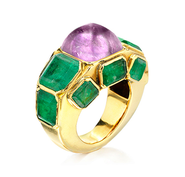 An Amethyst and Emerald Ring, by Chanel, circa 1930