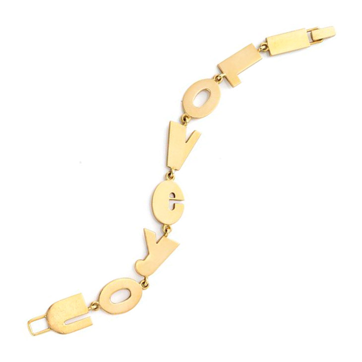 A Gold 'I Love You' Bracelet