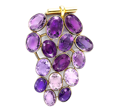An Amethyst 'Grapes' Brooch, by Suzanne Belperron