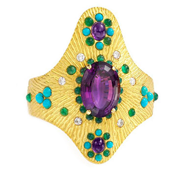 A Multi-gem And Diamond Cuff, By Boucheron, Circa 1970