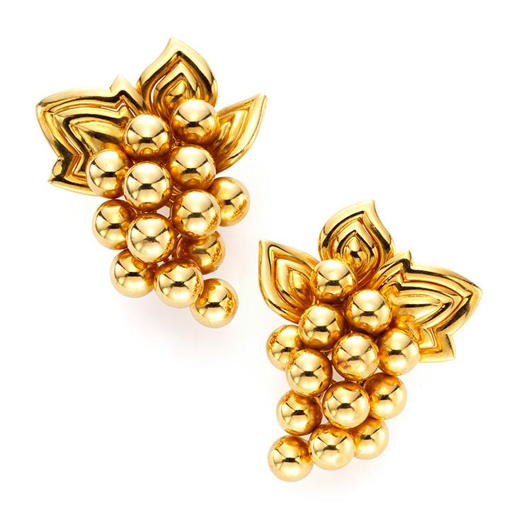 A Pair of Gold Ear Clips, by Boucheron, circa 1960