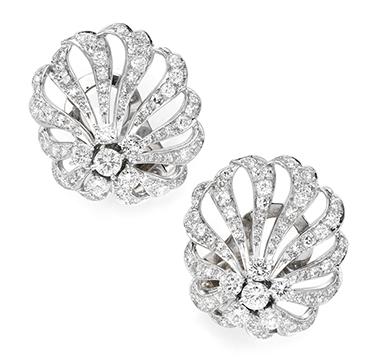 A Pair of Diamond Ear Clips, by Marianne Ostier