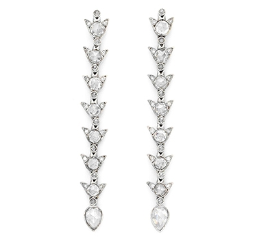 A Pair Of Rose-cut Diamond Ear Pendants, By Fred Leighton