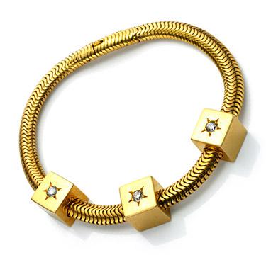 A Retro Gold and Diamond Bracelet, by Mellerio Dits Meller, circa 1940