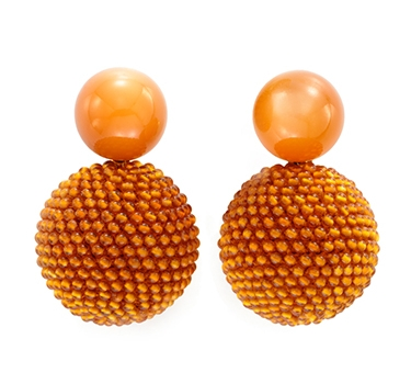 A Pair Of Moonstone And Carnelian Bead Ear Clips, By Hemmerle