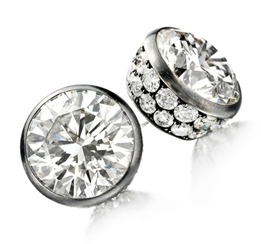 A Pair Of Diamond Stud Earrings Of Approximately 18.00 Carats, By Hemmerle