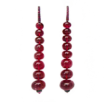 A Pair Of Rubellite Ear Pendants, By Hemmerle
