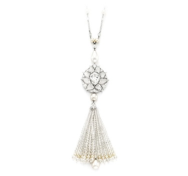 A Natural Pearl And Diamond Sautoir, By Bhagat