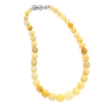 A Mother-of-Pearl and Argonite Bead Necklace by Taffin