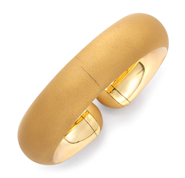 A Brush Gold Harmony Bangle, by Hemmerle