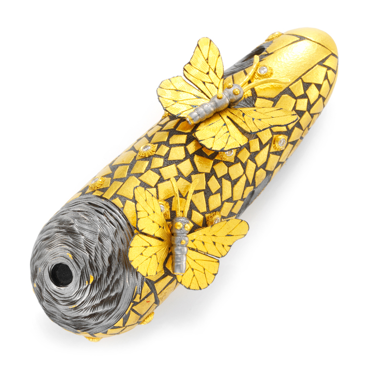 Gold and Steel Scent Falcon by Daniel Brush