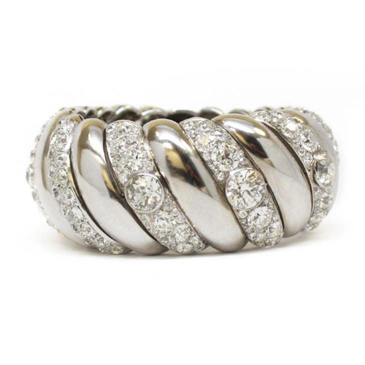 A Diamond and Platinum Bracelet, by Suzanne Belperron, circa 1940
