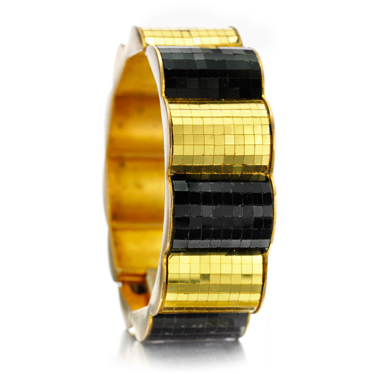 A Gold Mirrored Bangle Bracelet, by Boivin, circa 1930