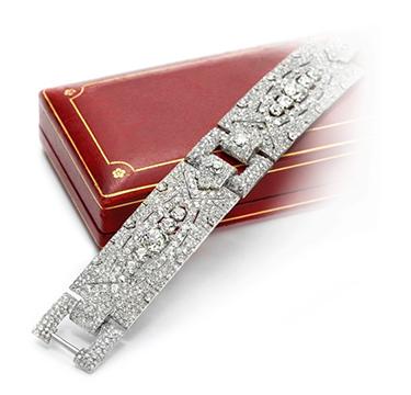 An Art Deco Diamond Bracelet, by Cartier, circa 1920