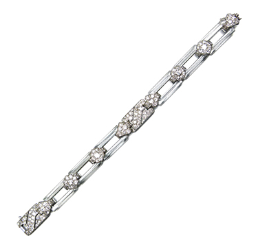An Art Deco Diamond and Rock Crystal Bracelet, by Cartier, circa 1925