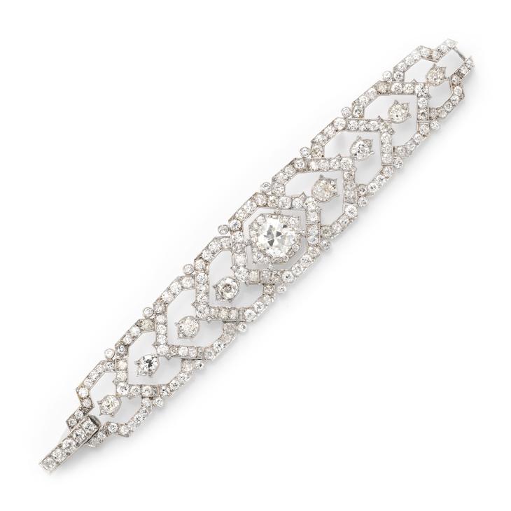 A Diamond Bracelet, by Cartier, circa 1940