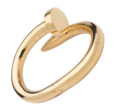 A Gold Nail Bracelet, by Cartier