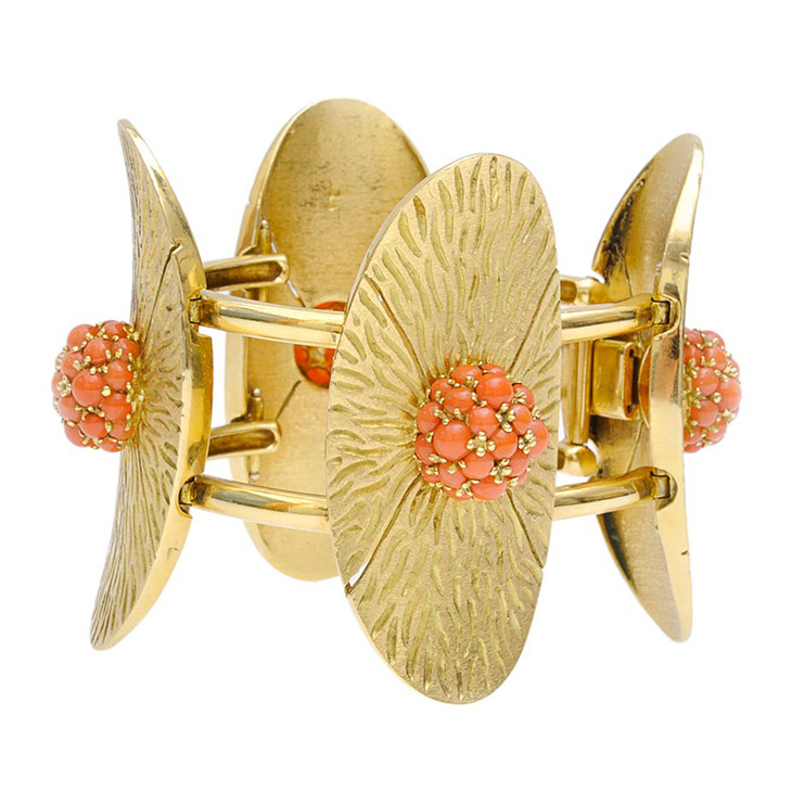 A Coral and Gold Bracelet, by Pomellato, circa 1975