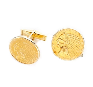 A Pair Of Coin Cufflinks, By Cartier