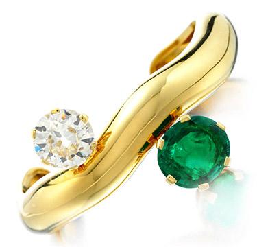 An Emerald and Diamond Cuff, by Suzanne Belperron, circa 1965