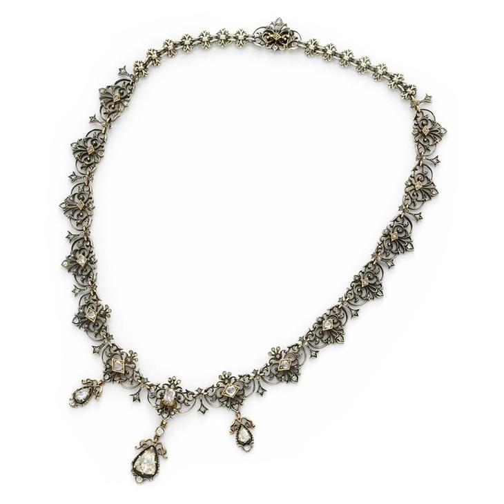An Antique Diamond, Silver and Gold Necklace, circa 1800